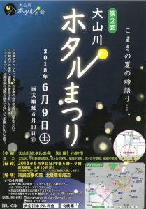 地元お祭り 大山川ホタル祭り
